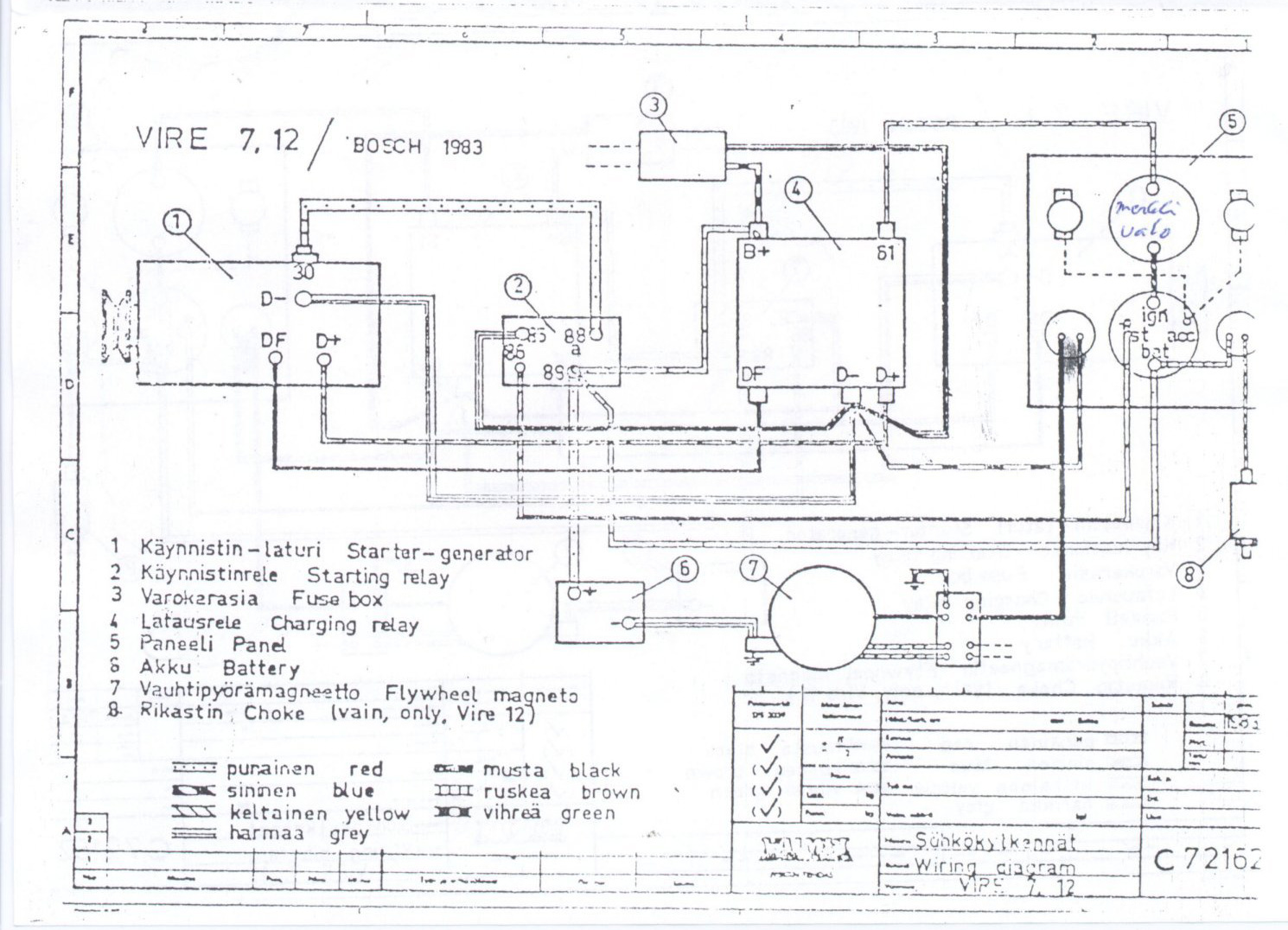 Vire 7 Starter Generator Circuit Diagrams Wiring Diagram Bosch With Starting Relay