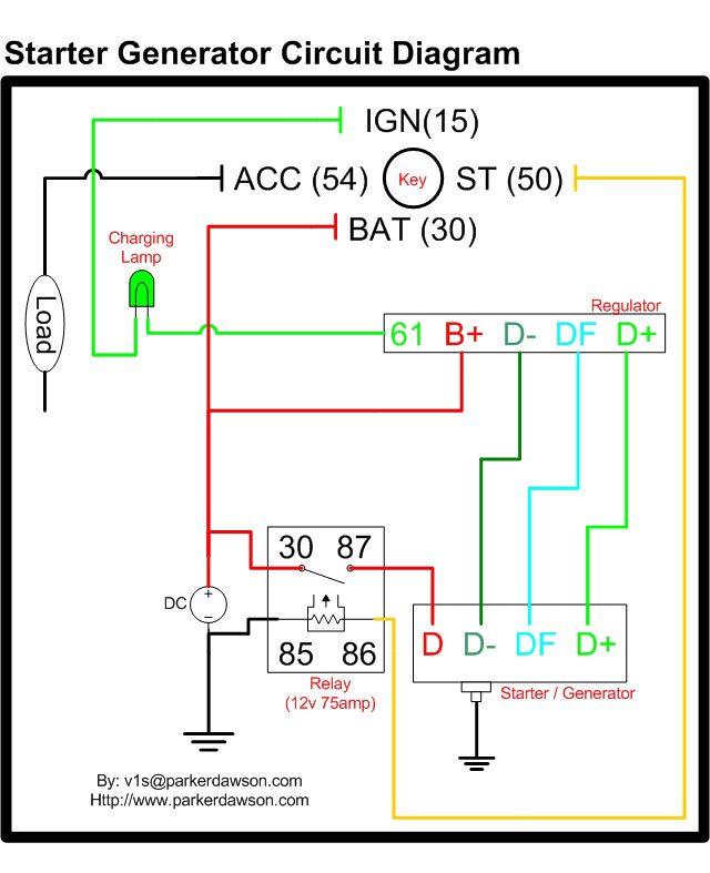 wiring3 vire 7 starter generator circuit diagrams bosch generator diagram at bakdesigns.co